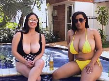 Aly Guzman & Sofia Santana: Tit Chat