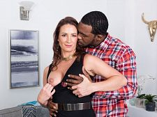 Ass-fucked by a bigger than average, dark-skinned cock