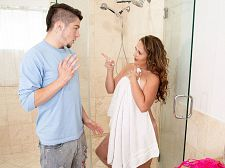 Brandii takes a shower with her son's almost any good friend