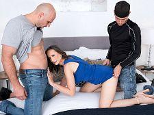 JMac and Tyler copulate Lilly James' ass